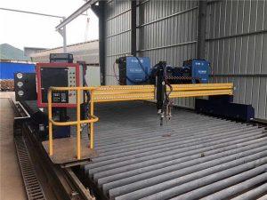 Automatiserad CNC-plasmaskärmaskin Dubbelkörning 4m Span 15m Rails