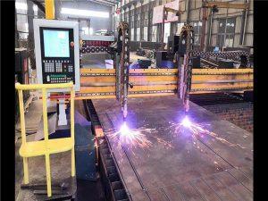 Dubbel Drive Gantry CNC Plasmaskärmaskin H Beam Production Line Hypertherm CNC System