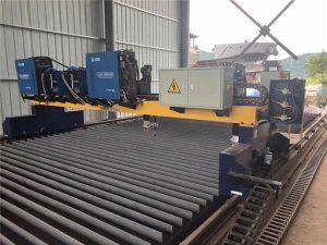 Dubbel Drive Gantry CNC Plasmaskärmaskin för skärning av fast stål H Beam-produktionslinje