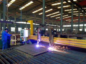 Gantry-plåt CNC-plasmaskärande 45-graders skärmaskin